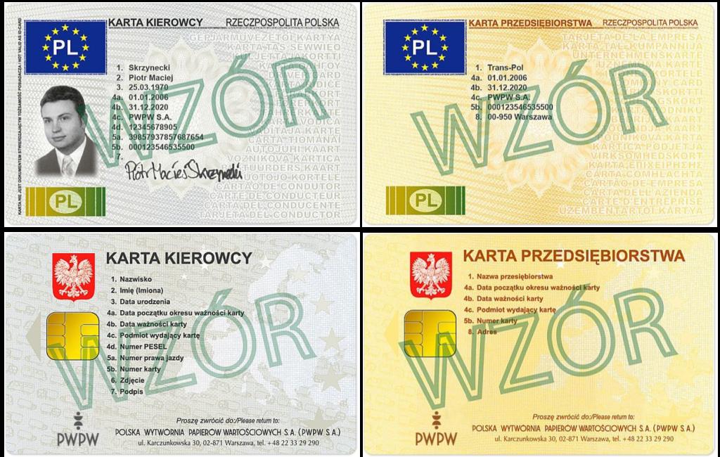 Karty Kierowcow Karty Przedsiebiorstwa Tacho Diagram